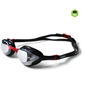 Zone3 Volaire Streamline Okulary pływackie, mirror lens/black/red